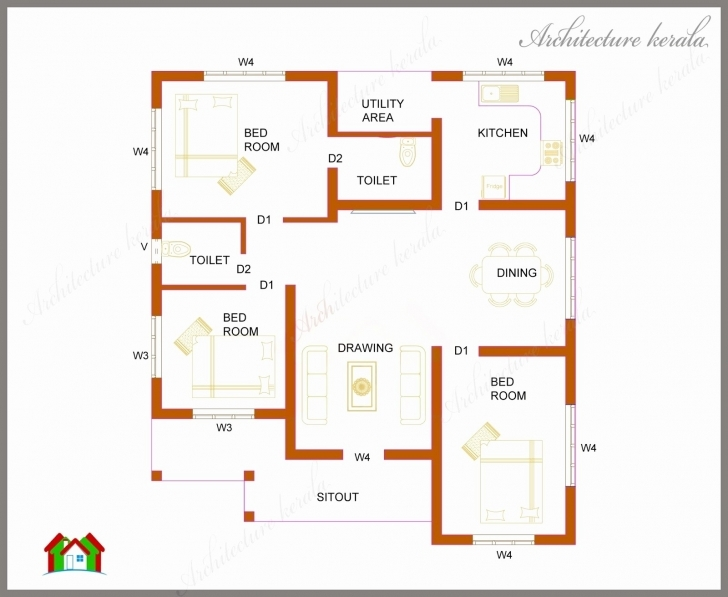 Good Kerala Model House Plans 1500 Sq Ft Luxury 1000 Sq Ft Floor Plans 2 Bedroom House Plans Kerala Style 1000 Sq Feet Pic