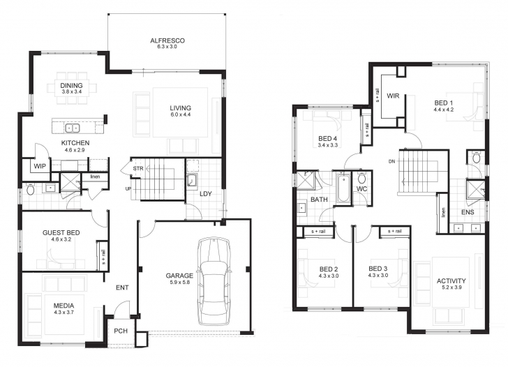 Good Modern 5 Bedroom House Designs Style At 2018 With Fabulous Double 5 Bedroom Double Story Modern House Plans Image