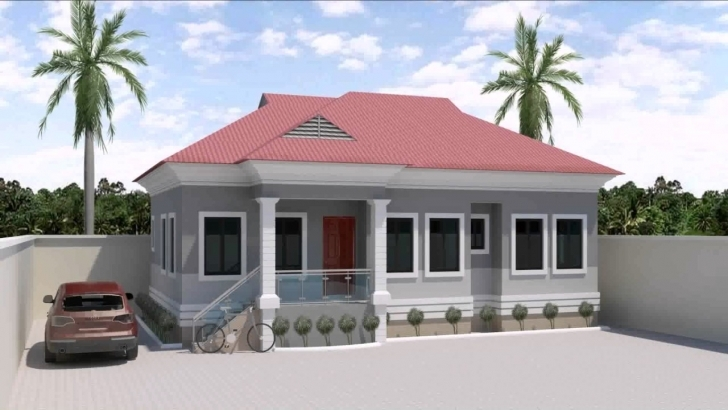 Gorgeous 3 Bedroom Bungalow House Designs In Nigeria - Youtube Design For 4 Bedroom Flat House Planning For Half A Plot Pic