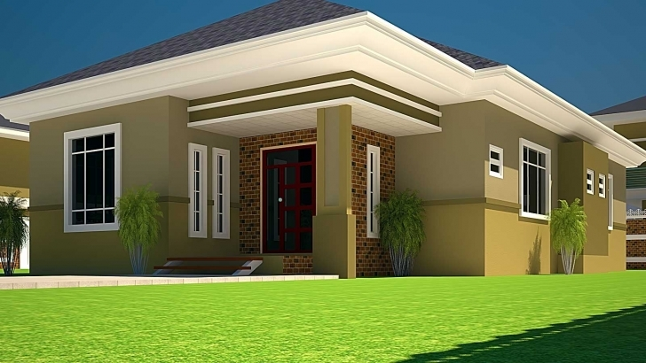 Gorgeous 3 Bedroomed House Designs House Plans Ghana 3 Bedroom House Plan For Half Plot House Design Image