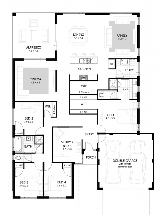 Gorgeous 4 Bedroom House Plans & Home Designs | Celebration Homes Four Bedroom Ground Floor Plan Pic