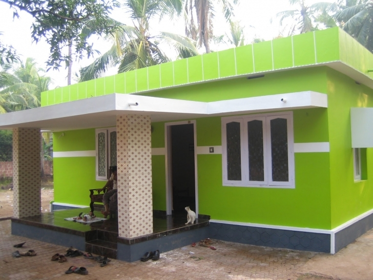 Gorgeous Home Architecture: Small And Simple But Beautiful House With Roof Indian Village House Design Front View Pic