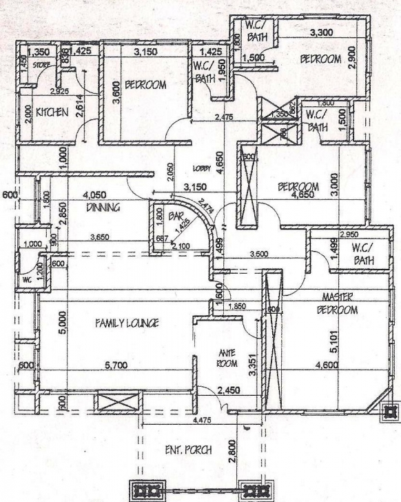 Gorgeous House Plans 4 Bedrooms Bedroom Bungalow Best - Home-Improvements 4 Bedroom Bungalow Plan In Nigeria Pic
