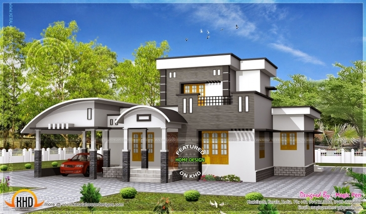 Gorgeous Kerala Home Design Trends With Modern Single Floor Of House Ideas Kerala Contemporary House Designs 2017 Pic