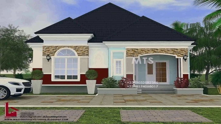 Gorgeous Pictures Of 4 Bedroom Bungalow House Plans In Nigeria - Youtube Image Of Bungalow House In Nigeria Image