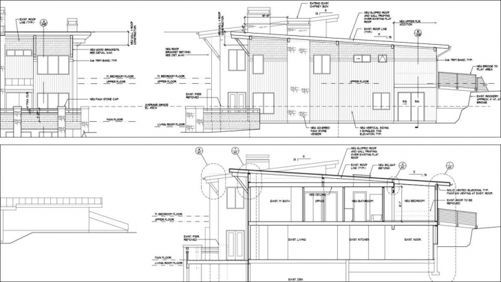 Great Auto Cad Elevation And Section Construction Drawings (Exceptional Plan Elevation And Section Drawings Dwg Pic