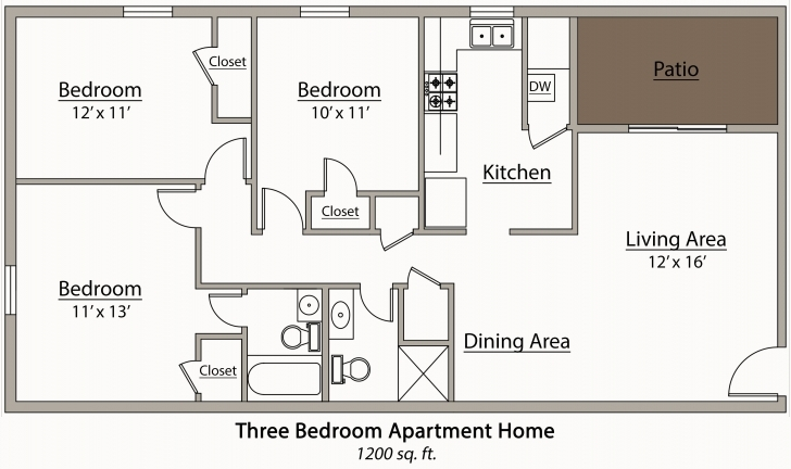 Great Bedroom Designs In Conjuntion With Architectural Plan Of Two Bedroom 3 Bedroom Flat Picture