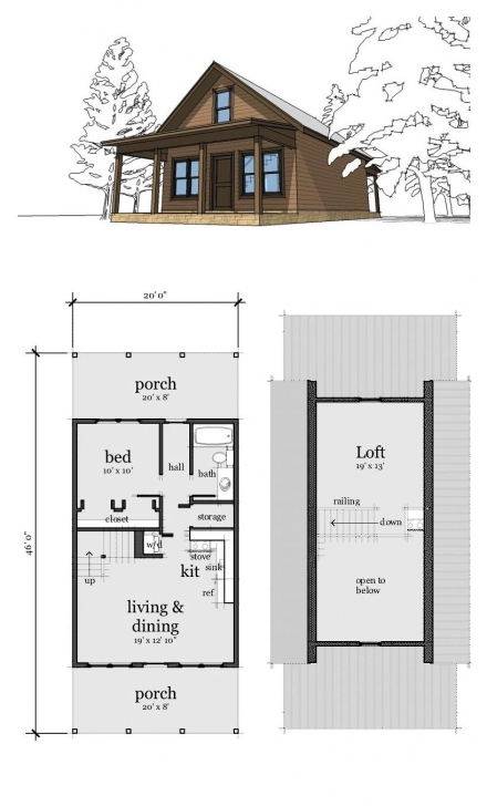 Great Cabin House Plan 67535 | Cabin, Lofts And Bedrooms 2 Bedroom House Plans With Loft Photo