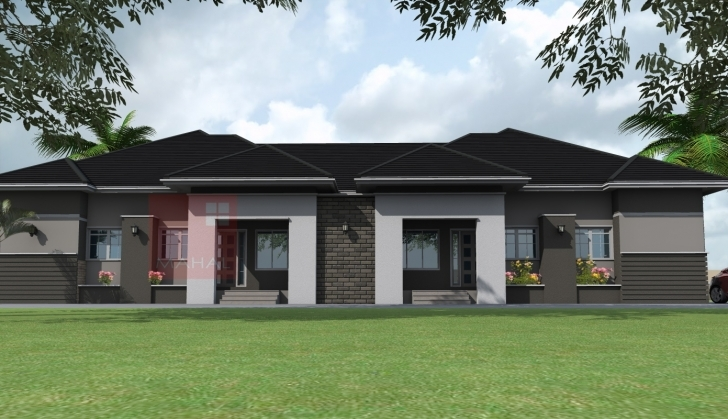 Great Contemporary Nigerian Residential Architecture: 3 Bedroom Semi Building Plan For Four Bedroom Bungalow Pic