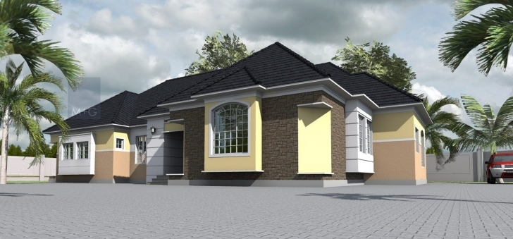 Great Contemporary Nigerian Residential Architecture: 4 Bedroom Bungalow Modern 4 Bedroom House Plans In Nigeria Pic