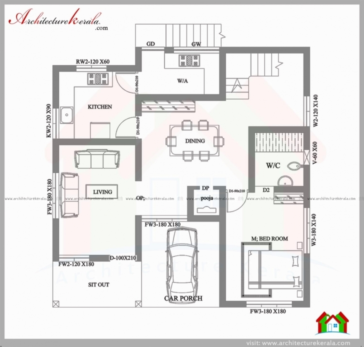 Great Elegant 3 Bedroom House Plans In 4 Cents - House Plan 4 Cent House Plan In Kerala Pic