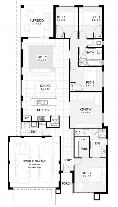 Great Fascinating 4 Bedroom Single Floor House Plans Collection Also Best 1 Bedroom House Plans Australia Photo