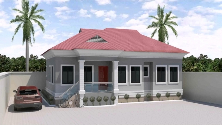 Great Home Architecture: Bedroom House Design In Nigeria Flat Roof 3 Three Bedroom Flat Plan In Nigeria Pic
