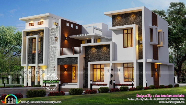 Great Kerala Home Design And Floor Collection 2017 Picture ~ Albgood Kerala Contemporary House Designs 2017 Image