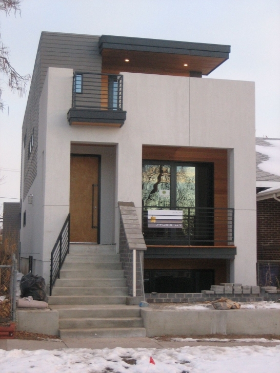 Great Small Modern House Design With White Walol Using Large Window And Small Villa Design Modern Photo