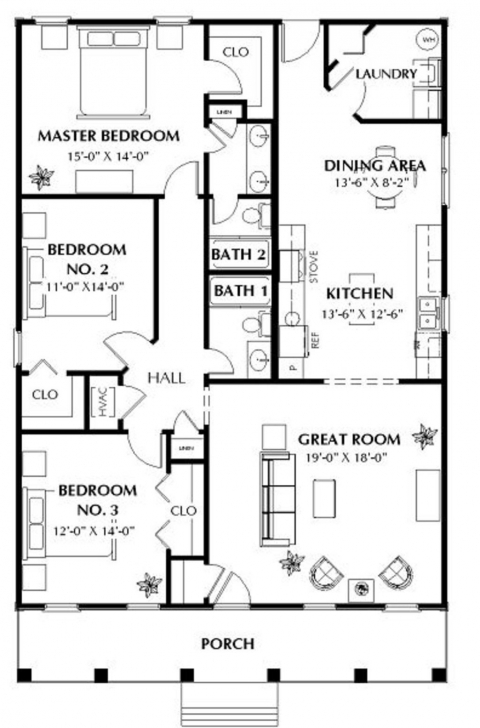Great Southern Style House Plan - 3 Beds 2.00 Baths 1587 Sq/ft Plan #44 House Plans 1550 To 1650 Square Feet Photo