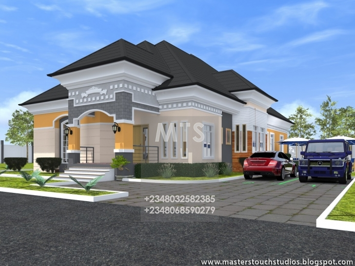 Image of 4 Bedroom Bungalow Designs Residential Homes And Public Designs 4 New Bungalow House In Nigeria Image