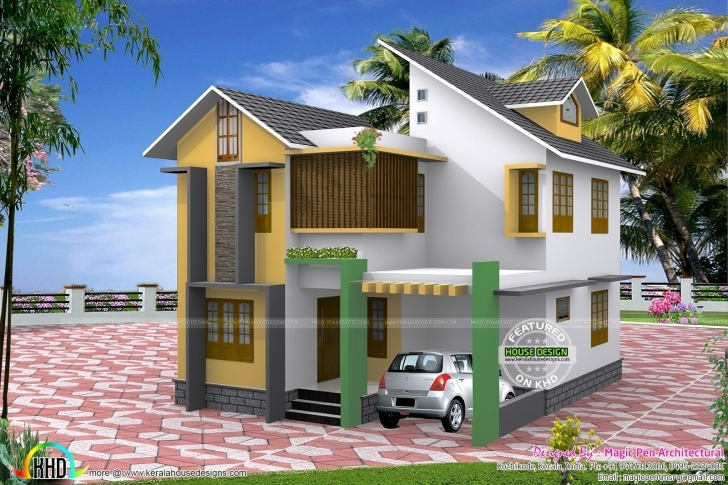 Image of 4 Bedroom House Plans In 5 Cents New Kerala House Plan In 5 Cents Small Upstair House Plans In Kerala Photo