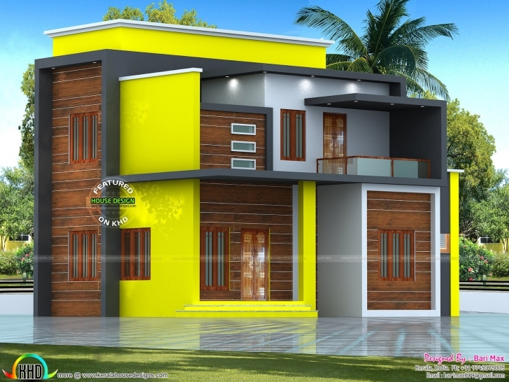 Image of Estimated ₹25 Lakhs Modern Home - Kerala Home Design And Floor Plans Kerala House Plans Below 25 Lakhs Image