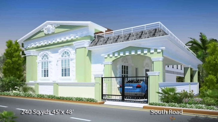 Image of South Indian House Plans South Facing - Youtube Front Elevation Of Indian House 30x50 Site South Facing Pic