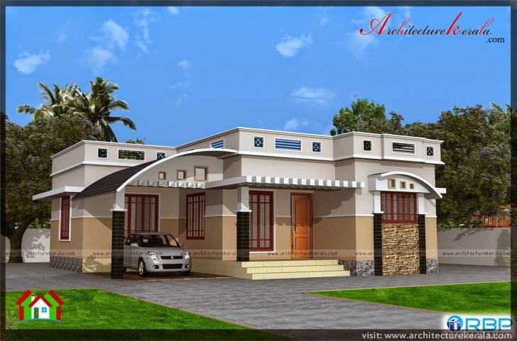 Incredible 1000 Sqft Single Storied House Plan And Elevation - Architecture Kerala Single Floor Elevation Please Pic