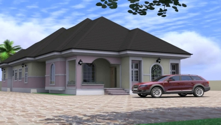 Incredible 4 Bedroom Bungalow House Design In Nigeria - Youtube Building Plan For Four Bedroom Bungalow Picture