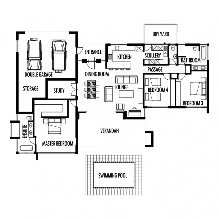 Incredible House Plans In South Africa - Homes Floor Plans South African House Plans 3 Bedroom Pic
