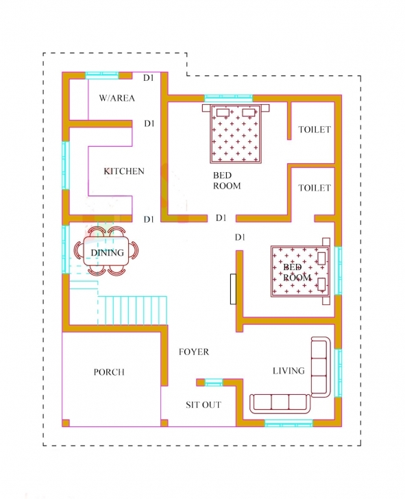 Incredible Kerala House Plans With Estimate 20 Lakhs 1500 Sq.ft | House Floor 1500 Sq Ft House Plans In Kerala Picture