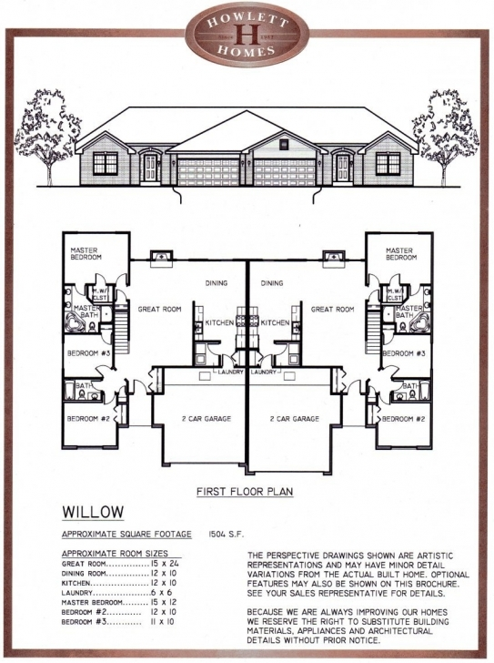 Incredible Uncategorized : Duplex House Plan With Elevation Amazing With Plan With Elevation Image