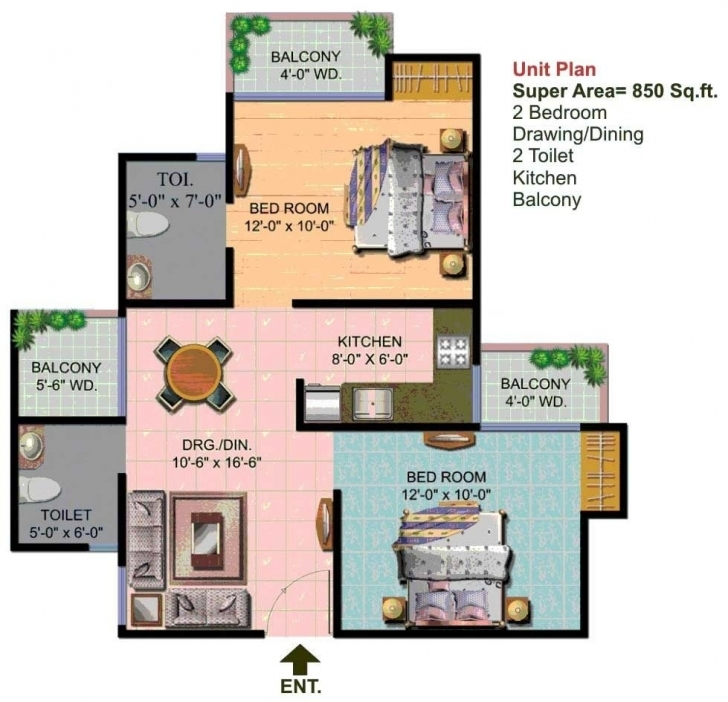 Incredible Wonderful 850 Sq Ft House Plans India 15 Nice Design Ideas Square House Plan 850 Sq Ft Picture