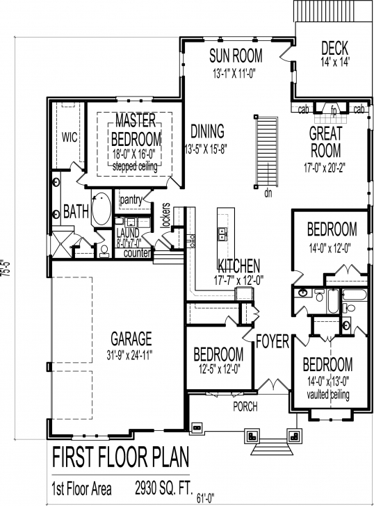 Inspirational 4 Bedroom Luxury Bungalow House Floor Plans Architectural Design 1 Story Drawings And Plans Of Four Bedroom Bungalow Image
