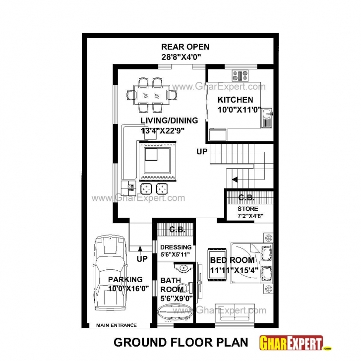 Inspirational 45 Foot Wide House Plans   Musicdna 15 By 45 House Layout Plan Image
