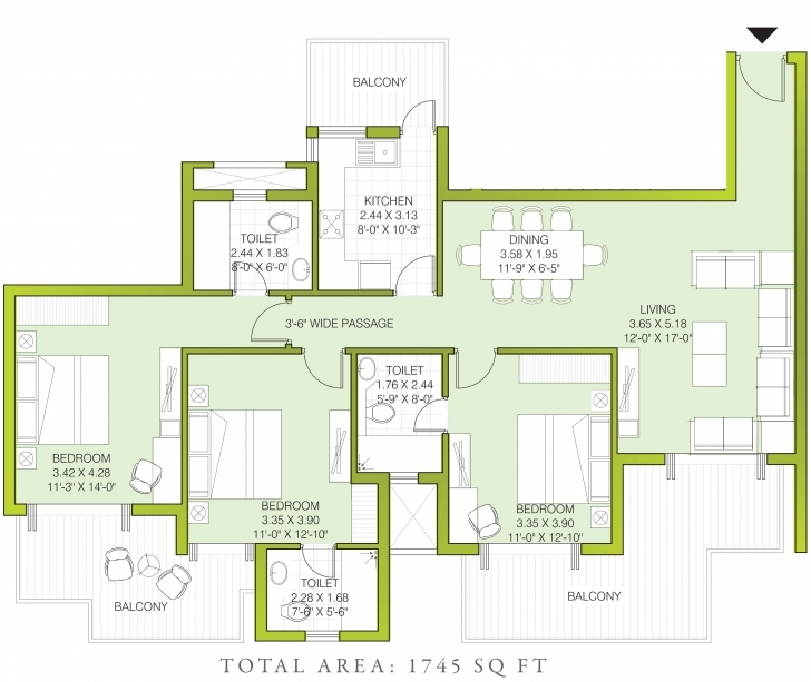 Inspirational Ats Kocoon In Sector 109, Gurgaon - Price, Location Map, Floor Plan 1745 House Plan Photo