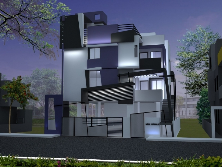 Inspirational Chandrashekar's House Front Elevation Design By Ashwin Architects In Duplex House Front Elevation Designs In Bangalore Image
