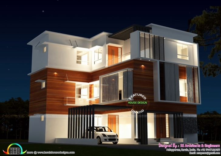 Inspirational Contemporary House Plans In 3 Cents Lovely 3 Storied House In 4 4 Cent House Plan In Kerala Picture