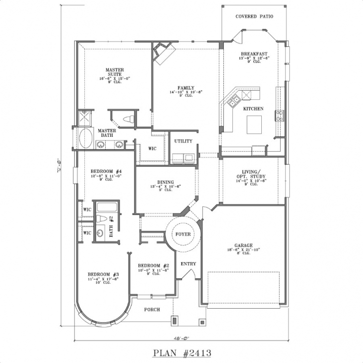 Inspirational Free 4 Bedroom House Plans And Designs Free House Plans One Bedroom Free 4 Bedroom Modern House Plans Image