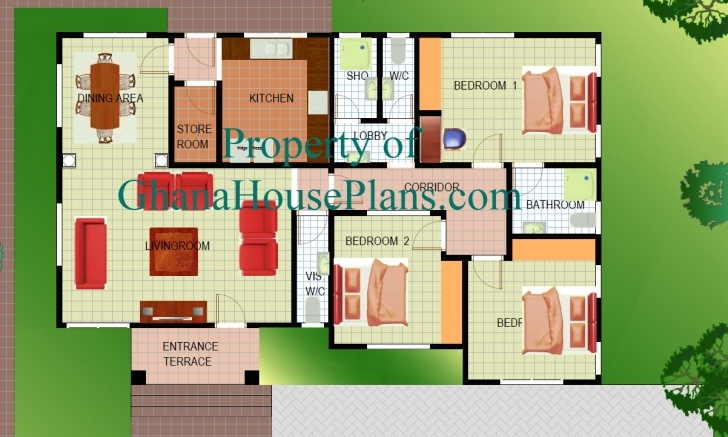 Inspirational Home Architecture: Ghana House Plans Nigeria Plan First Floor 4 Bedroom Building Plans In Ghana Photo