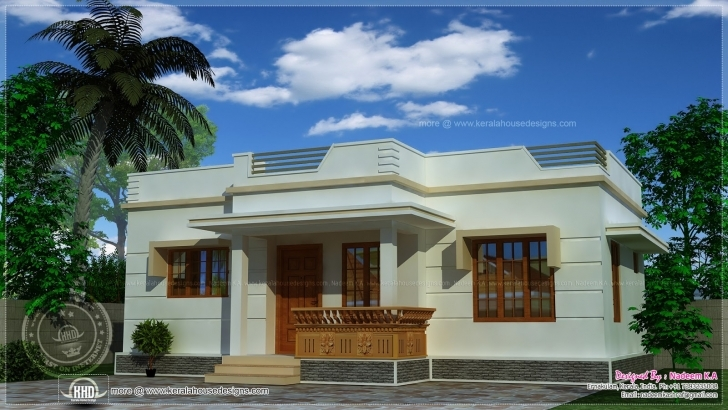 Inspirational Home Architecture: Sq Ft Low Budget G House Design Kerala Home And Single Floor House Front Design Kerala Style Picture