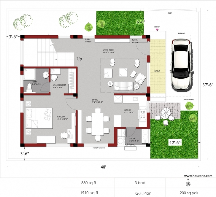 Inspiring 1500 Sq Ft House Plans - House Decorations Indian House Plans For 1500 Square Feet Photo