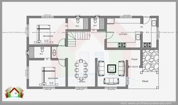 Inspiring 2400 Square Feet 4 Bedroom Kerala House - Architecture Kerala 4 Cent House Plan In Kerala Photo