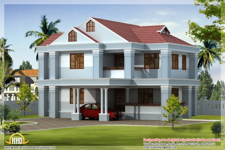 Inspiring Awesome Indian Home Elevations Kerala Design Floor Plans - House Beautiful Indian Houses Photos Pic