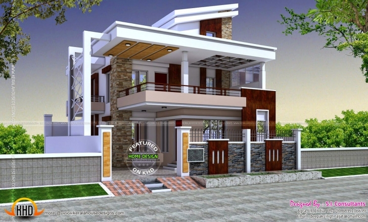 Inspiring Best Floor Plan And Exterior Design Modern Hd Pict For House Style Exterior Indian House Design Pic