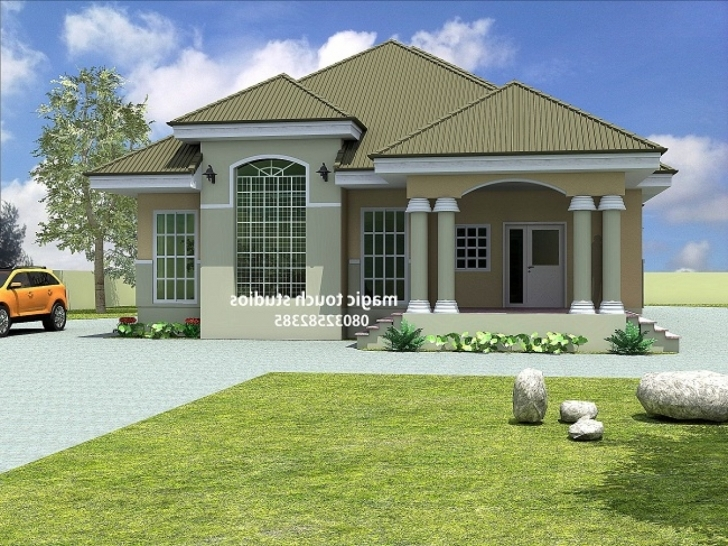 Inspiring Floor Plans At Nigeria Bedroom Bungalow House In Inspirations A Plan Modern Bungalow House Plans In Nigeria Photo