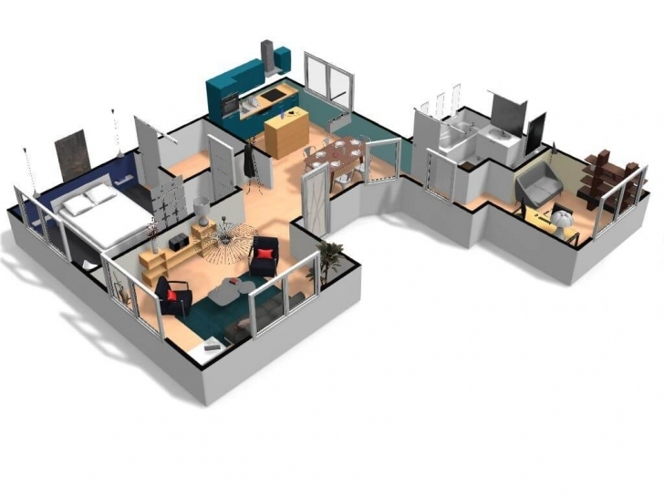 Inspiring Free And Online 3D Home Design Planner - Homebyme 3d House Planner Pic