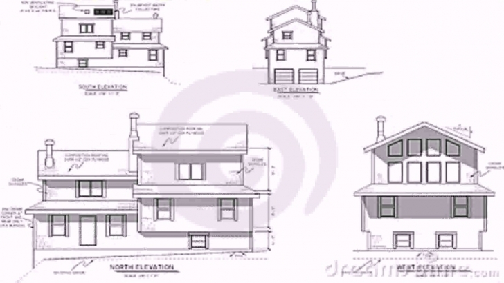 Inspiring House Plans Elevation Section - Youtube Plan Section And Elevation Of Houses Photo