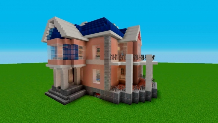 Inspiring Minecraft: Tutorial How To Build A Simple House (Stained Clay Design Minecraft House Designs Simple Photo