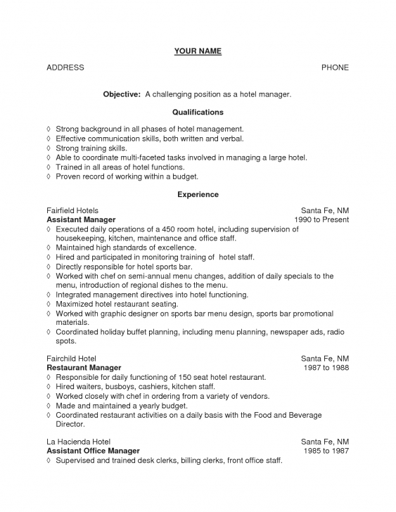 Inspiring Objective For Resume For Hotel Management Resume For Housekeeping Simple Housekeeping Picture