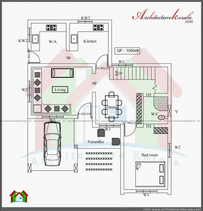 Inspiring Simple Three Bedroom House Architectural Designs 3 Bedroom House Simple 3 Bedroom House Plans Kerala Photo