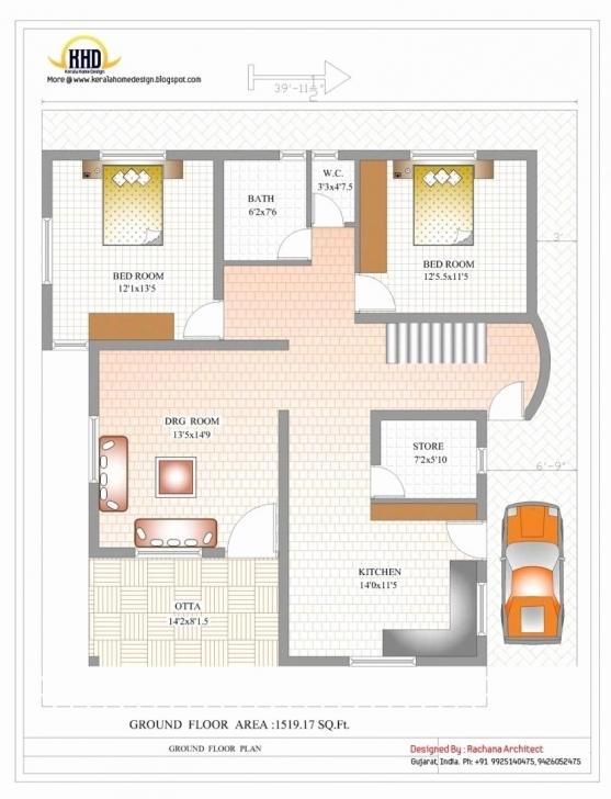 Interesting 1200 Sq Ft House Plans 2 Bedroom Indian Style Fresh 19 Elegant 1000 1200 Sq Ft House Plans 2 Bedroom Indian Style Image