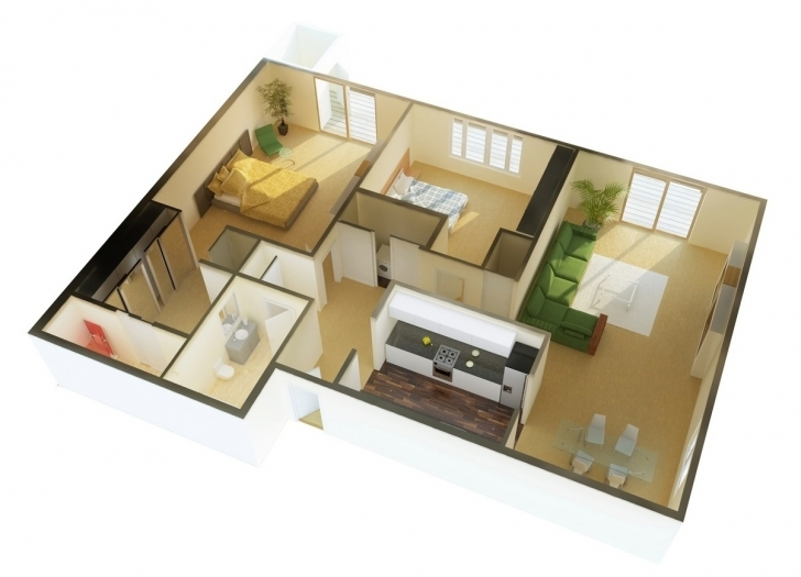Interesting 2 Bedroom House Plans (Photos And Video) | Wylielauderhouse 2 Bedroom House Plans With Photos Pic